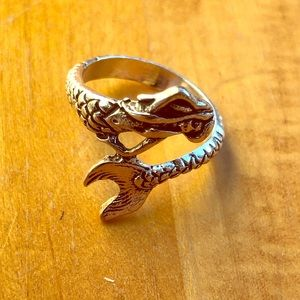 Jewelry - Sterling Silver Mermaid Ring Size 7